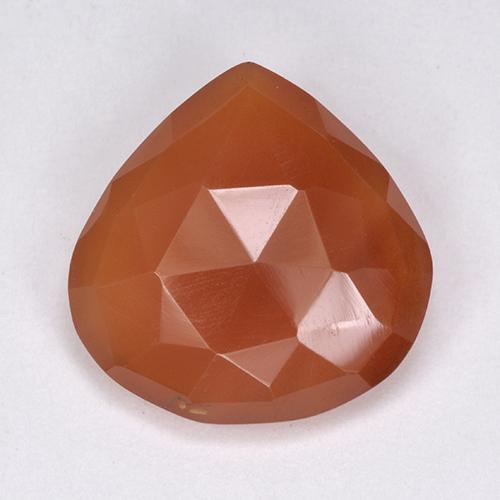 Light Red Carnelian Gem - 6.2ct Pear Double-Sided Checkerboard (ID: 513440)