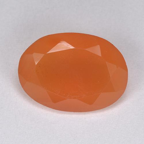 4.6ct Oval Facet Reddish Orange Carnelian Gem (ID: 513442)