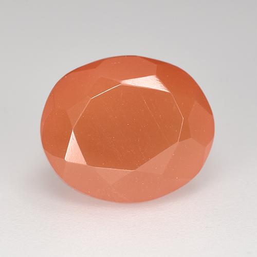 Orange Carnelian Gem - 3.8ct Oval Facet (ID: 513461)