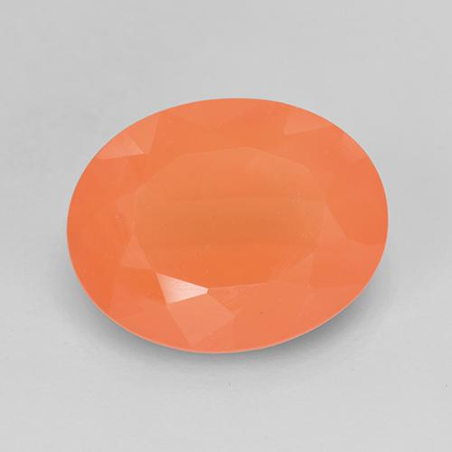 2.8ct Ovale sfaccettato Medium Orange Corniola Gem (ID: 514685)
