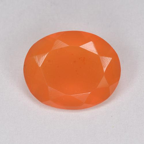 1.9ct Ovale sfaccettato Fire Orange Corniola Gem (ID: 514689)