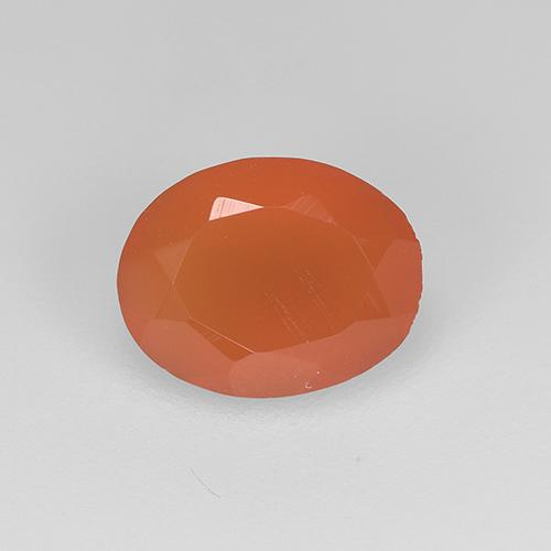 1ct Oval Facet Reddish Orange Carnelian Gem (ID: 514774)