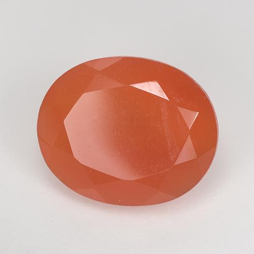 3.1ct Ovale sfaccettato Intense Orange Corniola Gem (ID: 515620)