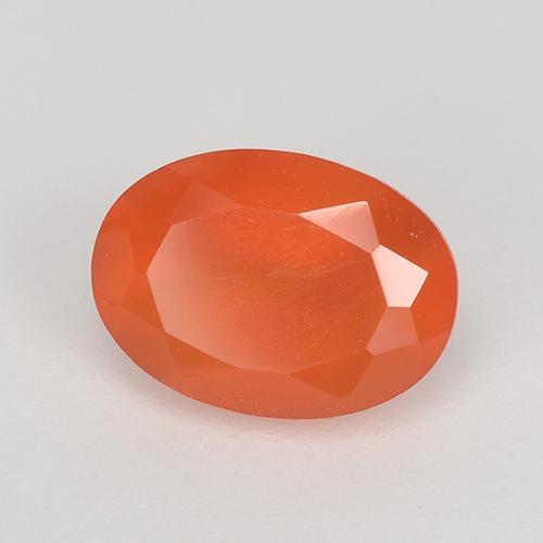 0.7ct Ovale sfaccettato Intense Orange Corniola Gem (ID: 515622)