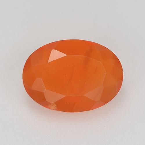 0.7ct Oval Facet Reddish Orange Carnelian Gem (ID: 515625)