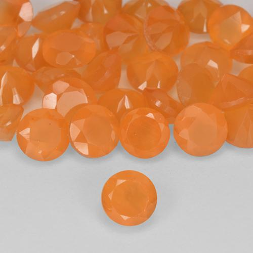 0.2ct Round Facet Medium Orange Carnelian Gem (ID: 515752)