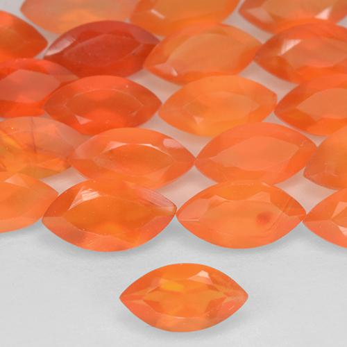 Red Orange Carnelian Gem - 0.3ct Marquise Facet (ID: 515755)