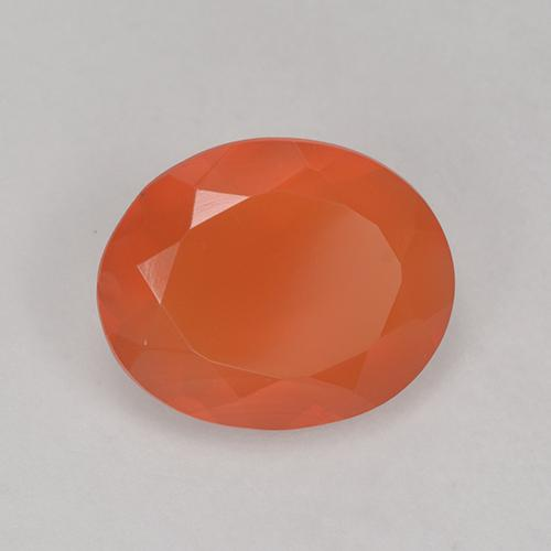 1.8ct Ovale sfaccettato Medium Orange Corniola Gem (ID: 521089)