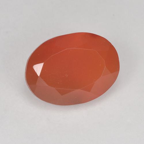 1.1ct Ovale sfaccettato Fire Orange Corniola Gem (ID: 521090)