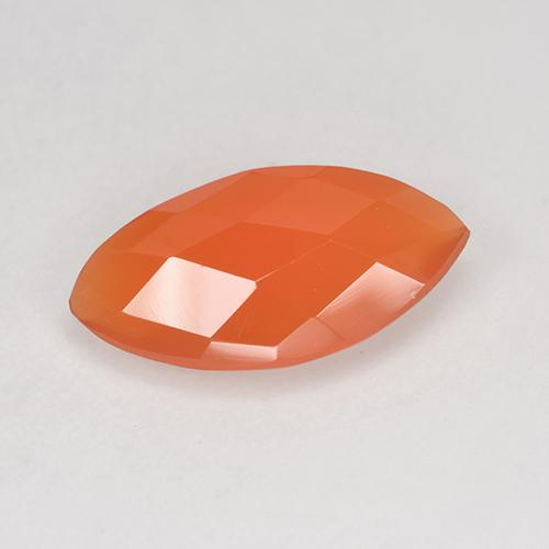 Fire Orange Carnelian Gem - 2ct Marquise Checkerboard (double sided) (ID: 521093)