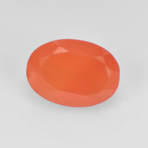 0.7ct Ovale sfaccettato Intense Orange Corniola Gem (ID: 521098)
