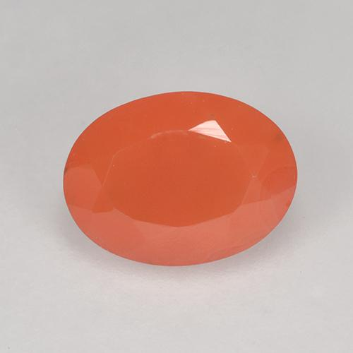 1.1ct Ovale sfaccettato Medium Orange Corniola Gem (ID: 521099)