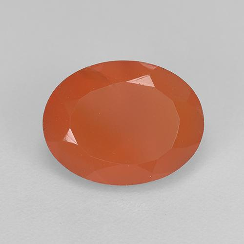 1.7ct Ovale sfaccettato Medium Orange Corniola Gem (ID: 521653)
