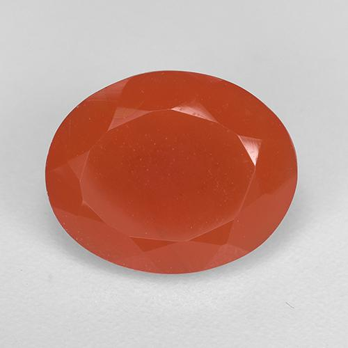 2.2ct Ovale sfaccettato Medium Orange Corniola Gem (ID: 521654)