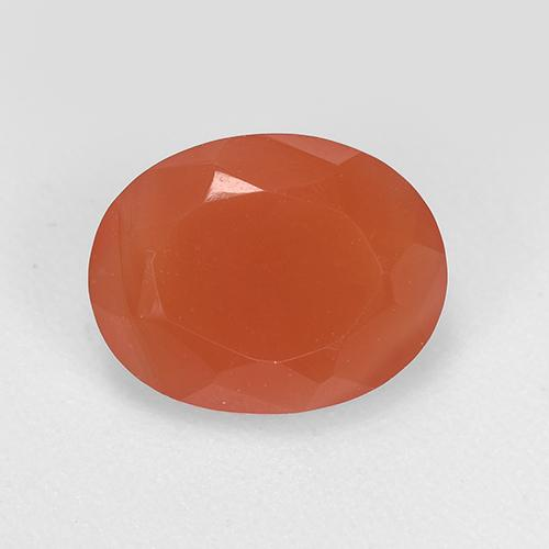 1.6ct Ovale sfaccettato Medium Orange Corniola Gem (ID: 521661)