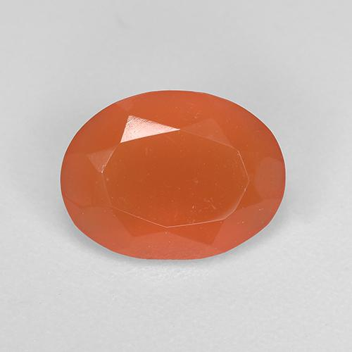 1.2ct Ovale sfaccettato Intense Orange Corniola Gem (ID: 521663)