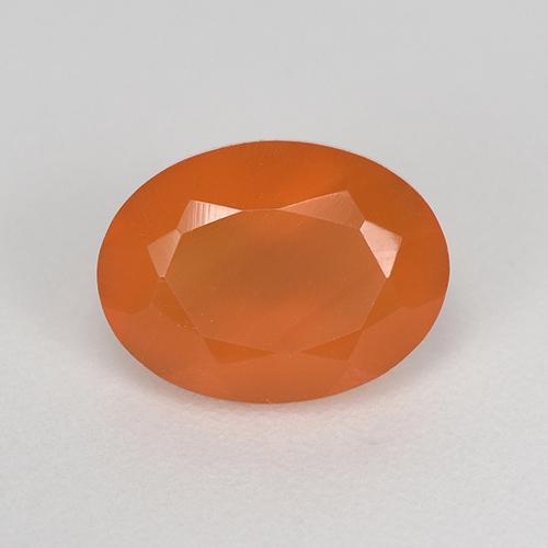 1.2ct Oval Facet Reddish Orange Carnelian Gem (ID: 521666)