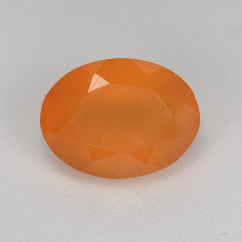 1.3ct Ovale sfaccettato Warm Apricot Orange Corniola Gem (ID: 521667)