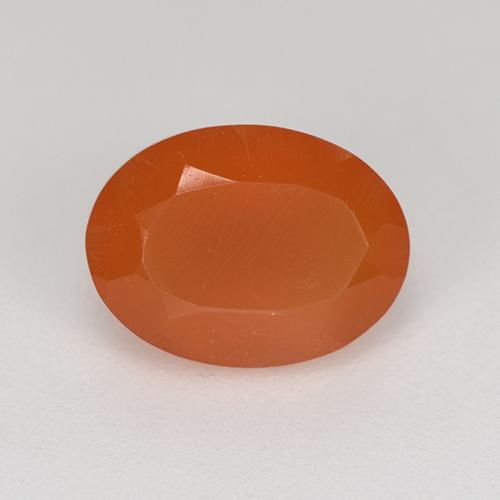 1.1ct Ovale sfaccettato Fire Orange Corniola Gem (ID: 521668)
