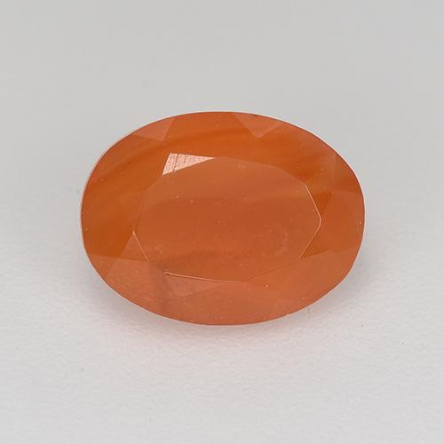 1.1ct Ovale sfaccettato Fire Orange Corniola Gem (ID: 521671)