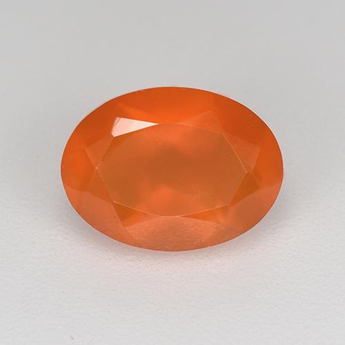 1ct Ovale sfaccettato Medium Orange Corniola Gem (ID: 521672)