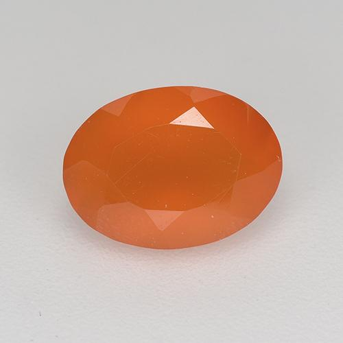Fire Orange Cornalina Gema - 1ct Forma ovalada (ID: 521673)
