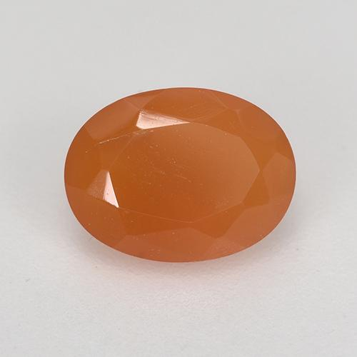 1.2ct Ovale sfaccettato Warm Apricot Orange Corniola Gem (ID: 521674)