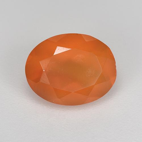 1.7ct Ovale sfaccettato Medium Orange Corniola Gem (ID: 521675)