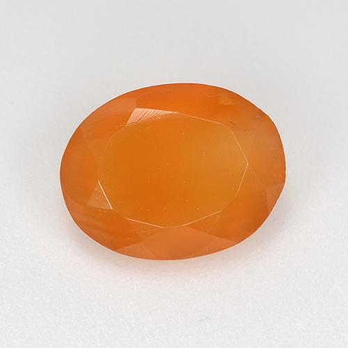 1.3ct Oval Facet Reddish Orange Carnelian Gem (ID: 521676)