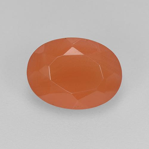 1.1ct Ovale sfaccettato Intense Orange Corniola Gem (ID: 522510)