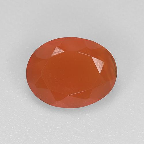 0.9ct Ovale sfaccettato Intense Orange Corniola Gem (ID: 522511)