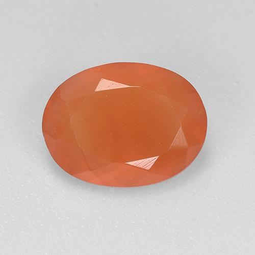 1ct Oval Facet Reddish Orange Carnelian Gem (ID: 522517)