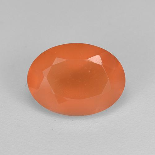 1ct Ovale sfaccettato Intense Orange Corniola Gem (ID: 522518)