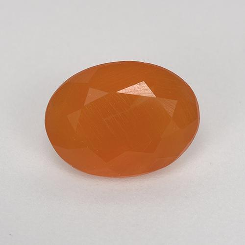 0.9ct Ovale sfaccettato Medium Orange Corniola Gem (ID: 522857)