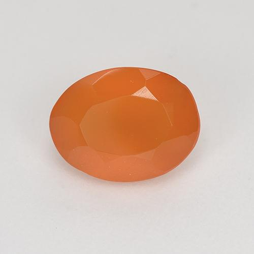1ct Ovale sfaccettato Warm Apricot Orange Corniola Gem (ID: 522859)