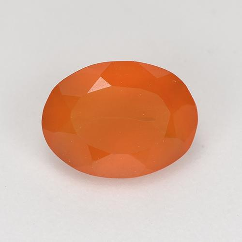 1ct Ovale sfaccettato Fire Orange Corniola Gem (ID: 522861)