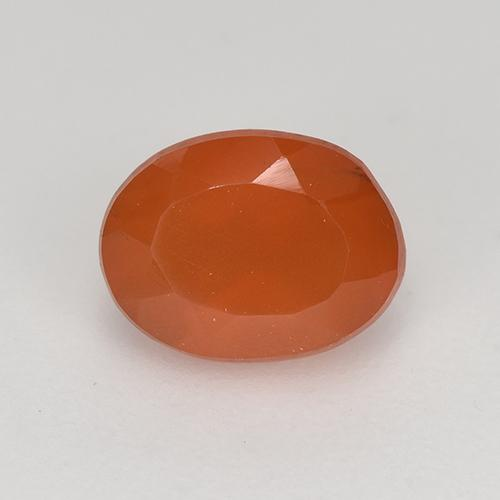 1.1ct Oval Facet Deep Reddish Orange Carnelian Gem (ID: 522862)