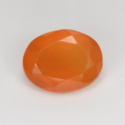1.5ct Ovale sfaccettato Fire Orange Corniola Gem (ID: 522867)