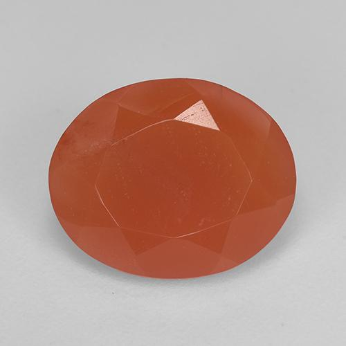 2.9ct Oval Facet Reddish Orange Carnelian Gem (ID: 523486)