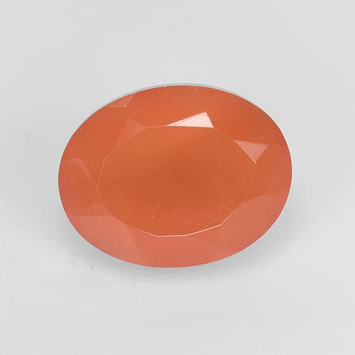 1.9ct Oval Facet Reddish Orange Carnelian Gem (ID: 523490)