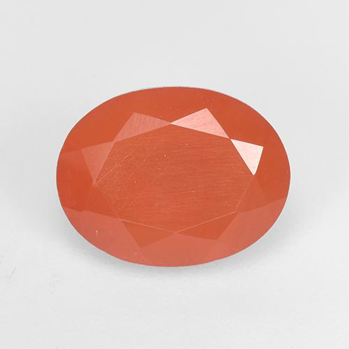 1.8ct Ovale sfaccettato Intense Orange Corniola Gem (ID: 523491)