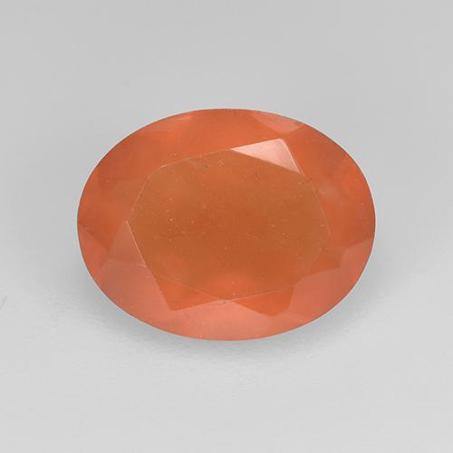 1.5ct Oval Facet Reddish Orange Carnelian Gem (ID: 523492)