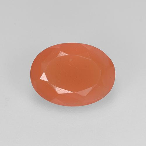 1.1ct Oval Facet Reddish Orange Carnelian Gem (ID: 523493)