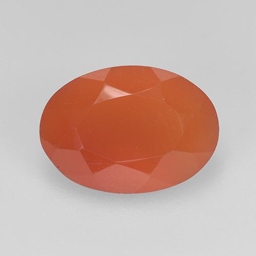 1.8ct Ovale sfaccettato Fire Orange Corniola Gem (ID: 523494)