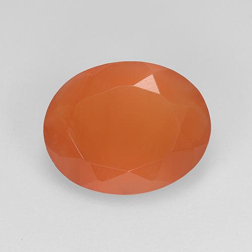 1.9ct Ovale sfaccettato Medium Orange Corniola Gem (ID: 523495)