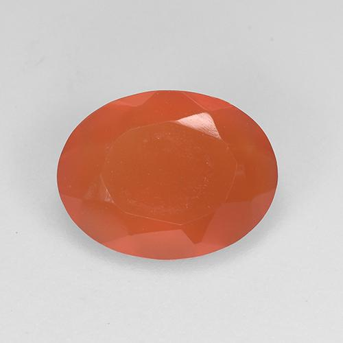 1.3ct Ovale sfaccettato Medium Orange Corniola Gem (ID: 523497)