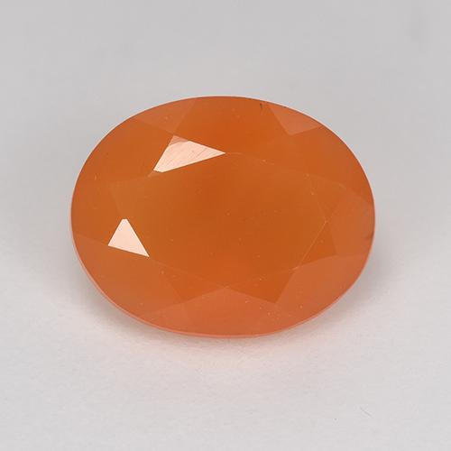 2.1ct Ovale sfaccettato Medium Orange Corniola Gem (ID: 523879)