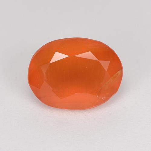 1ct Ovale sfaccettato Intense Orange Corniola Gem (ID: 523883)