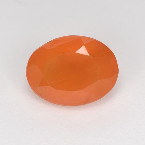 1ct Ovale sfaccettato Medium Orange Corniola Gem (ID: 523885)