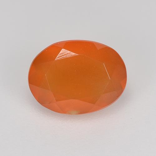1ct Ovale sfaccettato Intense Orange Corniola Gem (ID: 523886)